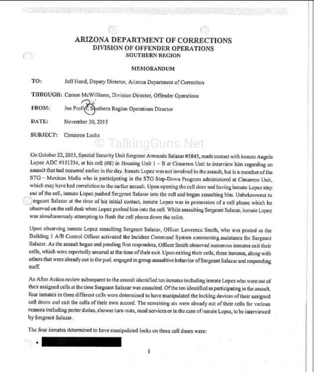 azdoc, arizona department of corrections, www.talkingguns.net, talkingguns, talking guns